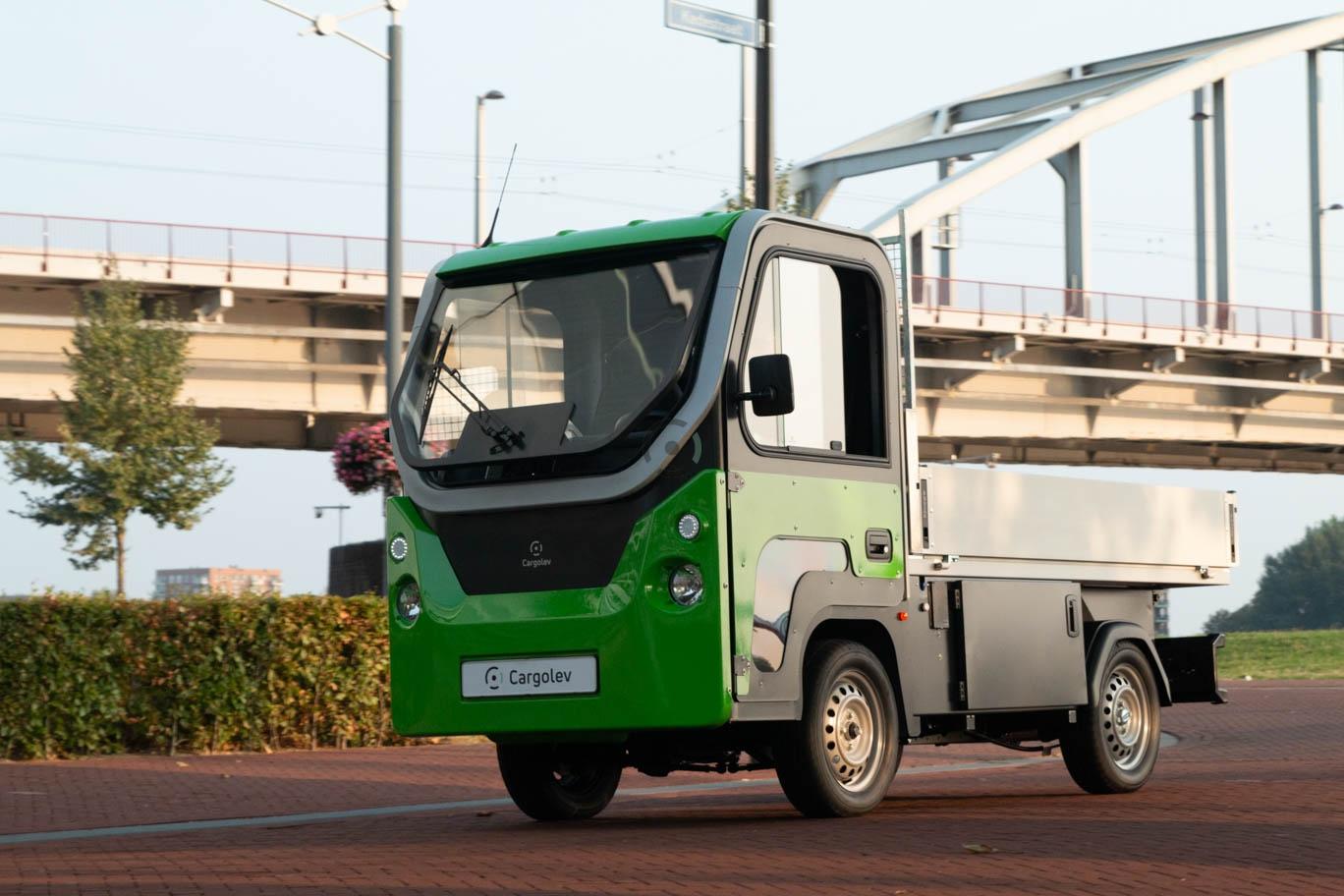 Cargolev LEVV met beperkte snelheid past goed in beperkte ruimten, zoals een binnenstad